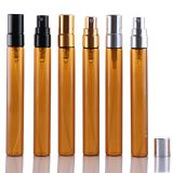 10ml Amber Glass Vials With Pump Sprayer For Perfume Liquid Packing