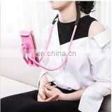 Flexible Mobile Phone Holder Hanging Neck Lazy Necklace Bracket 360 Degree Smartphone Holder Stand