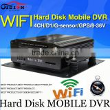 WIFI Mobile DVR, H.264 4CH car dvr ,Real time ,GPS Track ,I/O,G-sensor,Vehicle DVR,support iPhone ,Android Phone