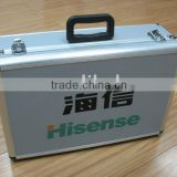 2013 new design USA STYLE Aluminum instrument case with logo print and safe locks