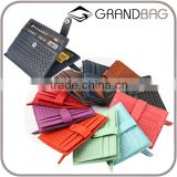 Classical Design Large Capacity Woven Leather Credit Card business name card holder Wallet