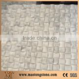 Wooden Marble Mosaic Tiles, Chinese Serpeggiante White Wood Grain Marble Tiles