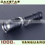DAKSTAR Newest VANGUARD CREE XML T6 1000LM 18650 Rechargeable Police Torch Light Multi-function Police Flashlight