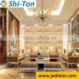 2016 China artistic 3D faux leather covering wall and ceiling panel, 3D leather wall panel
