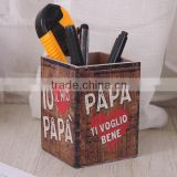 vintage Wooden pen container for sale