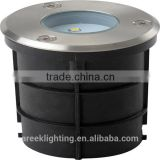 Round Shape 220-240V IP67 4*0.2W LED Die-cast aluminium body and 304 Stainless steel cover Underground Light