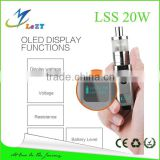LeZT Good quality newest mechanical mod wood e cig mod kamry 20 mini box mod 7-20W wattage mod