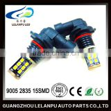 Super bright factory supply 9005 2835 15SMD led car light 9006 2835 15smd led auto light