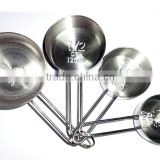 (DCM-018) 4 Pieces Stainless Steel Measuring Cup Set                                                                         Quality Choice