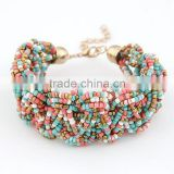 Latest Handmade Bohemian Seed Bead Jewelry Gold Fitbit Bracelet                                                                         Quality Choice