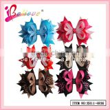 Ladies fashion hair accessories animals ribbon hair clips wholesale ribbon bow tie