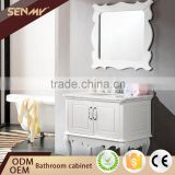 Promotional Product White Furniture Bamboo Mirror Bathroom Vanity Combo