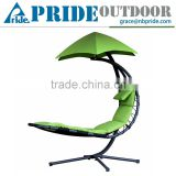 Colorful Outdoor Leisure Patio Arc Stand And Canopy Adult Hanging Single Seat Chair Swing
