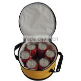 circular 6 pack fitness cooler bag with two side carry handle