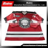 Quick dry polyester fabric for cheap wholesale blank hockey jerseys custom/customized hockey jerseys made in china