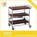 3-tier Stainless Steel Serving Trolley