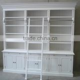 french antique white take the ladder wood bookcase