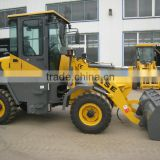 1.0ton wheel loader,hydraulic steering system and quick change,load 1ton,pilot work valve,attachments.