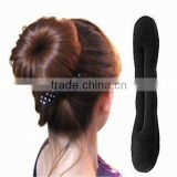 New Fashion Women Headwear Stylish Hair Twister Headbands Bun Making Tool Black Sponge Roller Women
