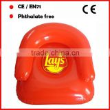 PVC inflatable chair for adults red color custom logo printed