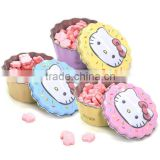 Cake shape candy tin can