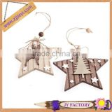 Cheap bulk items birch wood handmade christmas star decoration