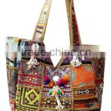 Exclusive Designer Banjara Vintage Handbags with hand embroideries patchwork,mirror work, Old Tribal Antique work in Vintage sar