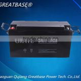 long life rechargeable 12V150Ah Maintenance Free solar battery/Medical equipment battery