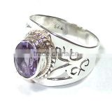 Amethyst rings 925 sterling silver jewelry Handmade jewelry Natural purple stone rings jewellery