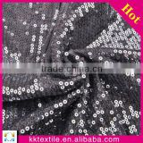 Wholesale High quality knit sequin embroidery design lace fabric for lady dress/3mm sequin embroidery lace