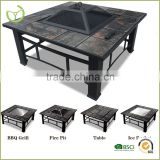 Multi-Function outdoor square BBQ grill style fire pit patio heater charcoal fire pit with ice bowl                                                                         Quality Choice
