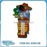 cartoon parrot 3d pvc fridge magnet with thermometer