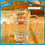Daily drinking glass cups with handles clear gift glass cups functional glass cups made by machine