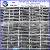 Galvanized steel woven wire mesh panels