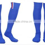 wholesale mens professional blue striped soccer socks