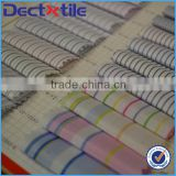 simple style stripe pattern shirt fabric for casual shirts with TC blended yarn from DEC Textile                                                                         Quality Choice