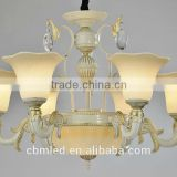 Hot selling metal flower chain chandelier