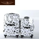 fancy hard side girls luggage telescopic handle suitcase