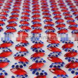 YIWU XIUMAO factory China guangdong factory direct wholesale crystal iron-on rhinestone mesh