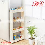 Homeware 4 Layers folding bath kitchen laundry room storage organizer removable plastic shelf with Handel