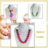Nursing Bead Jewelry/Food-safe Silicone Chewable Baby Teething Necklace Mom Fashion Bubs Enjoy
