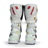Hot Selling White And Black Fashion Motorcycle boots leather high ankle Motocross shoes                                                                         Quality Choice