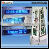 Waterproof cabinet+ double sides Blue color RF wireless communication P8-16x128B LED advertising display