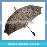 straight auto open umbrella long umbrella rubber coated curved handle