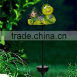 popular ceramic mini bee led solar garden light lawn ornaments for sale