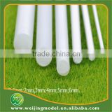 ABS artificial white plastic scale model rod in large size 12mm