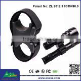 Patent Product 25mm 30mm Adjustable Flashlight Mount Double Ring Barrel Tactical Laser Mount