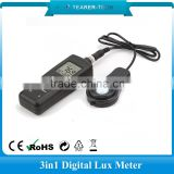 New 200,000 Lux Digital Light Meter LCD Luxmeter Lux / FC Luminometer Measure Tester TL-601
