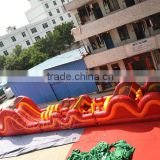 2016 new Dragon giant Obstacle course 3 parts inflatable detached obstacle course for sale
