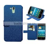 Blue book wallet leather case for Acer Liquid z500 case silk slim stand wallet leather high quality factory price